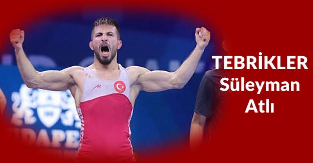Süleyman Atlı bronz madalya kazandı!