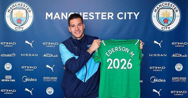 City, Brezilyalı kalecisi Ederson ile sözleşme yeniledi
